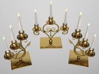 Candlesticks of brass