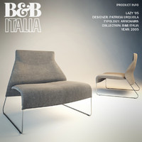 3ds max seat lazy chair