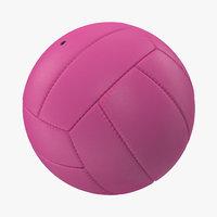 volleyball ball pink 3d model
