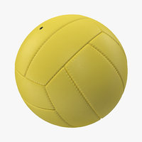 3ds volleyball ball yellow