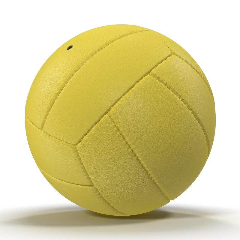 Volleyball Ball Yellow 3d model 01.jpg