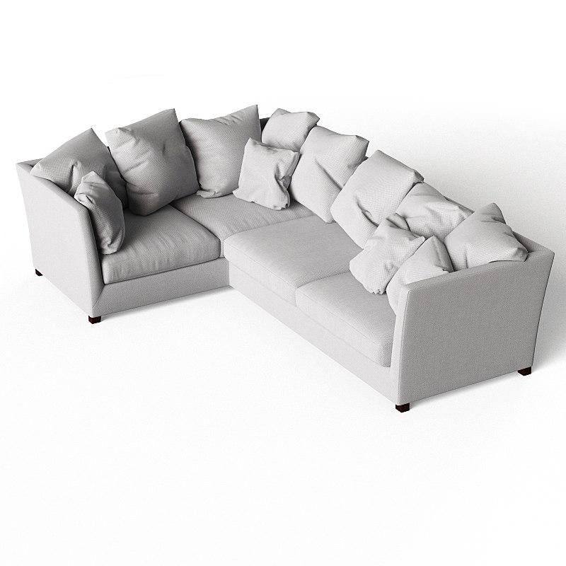 3ds max flexform victor sofa