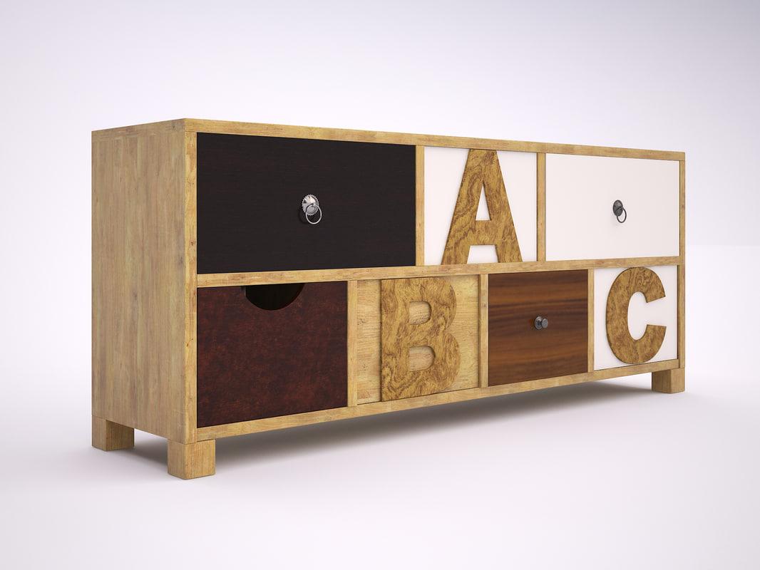 commode abc 3d model