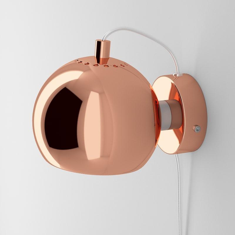 ball lamp frandsen lighting 3d model