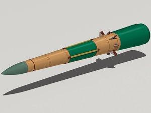 9m83 missiles 3d model