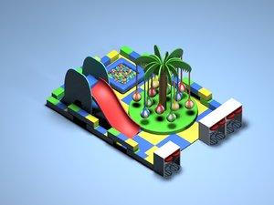 3dsmax indoor kiddie playground