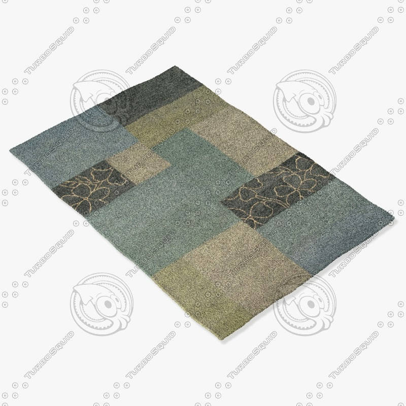 3d rizzy home rugs multi-colored model