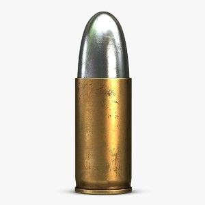 cartridge 9x19 mm parabellum 3d 3ds