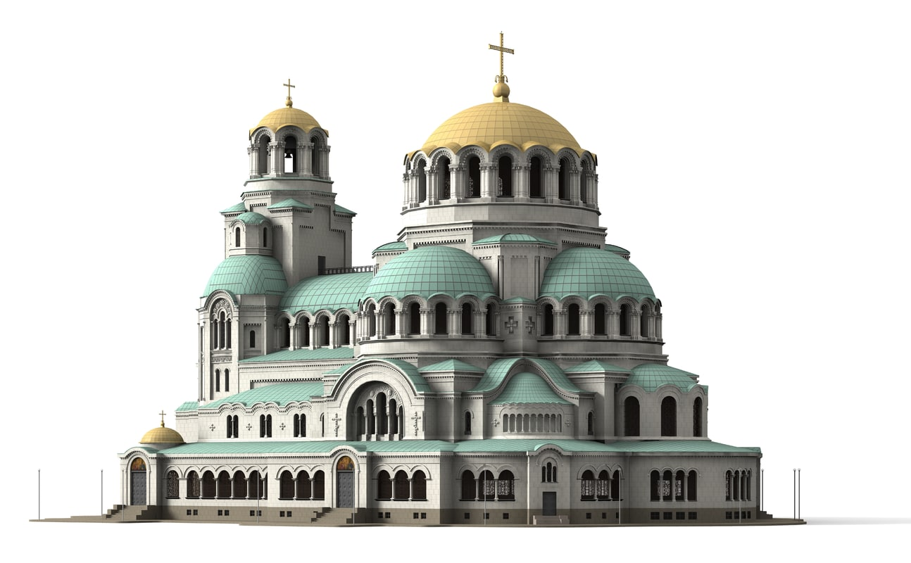 alexander nevsky cathedral 3d model