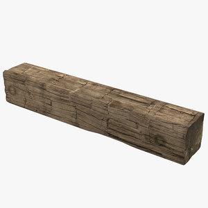 old wood log 3d model