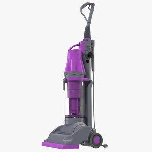 3d model stand vacuum cleaner violet