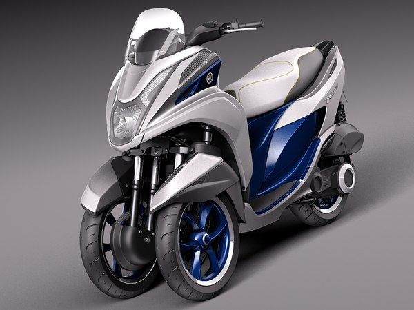 3d model 2015 scooter yamaha