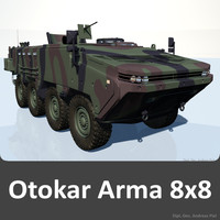 dxf arma 8x8 apc vehicle