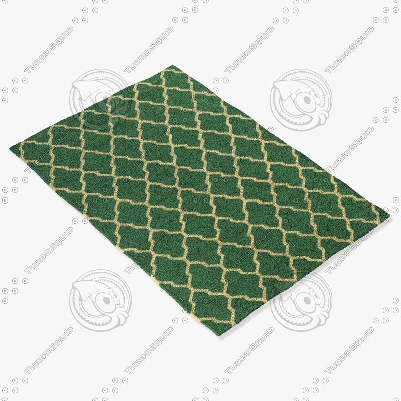 rizzy home rugs multi-colored 3d model
