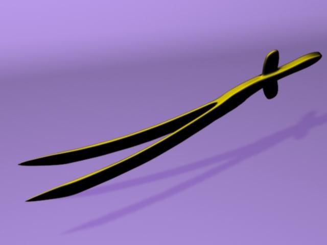 sword edges 3d max