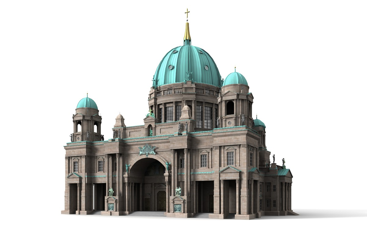 3ds max berlin cathedral