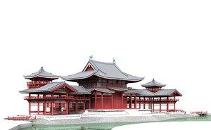 3d model buddhist temple