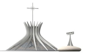 3d cathedral capital jesus model