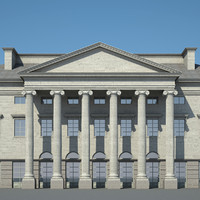 city hall 3d model