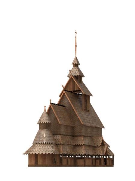 3ds max borgund stave church