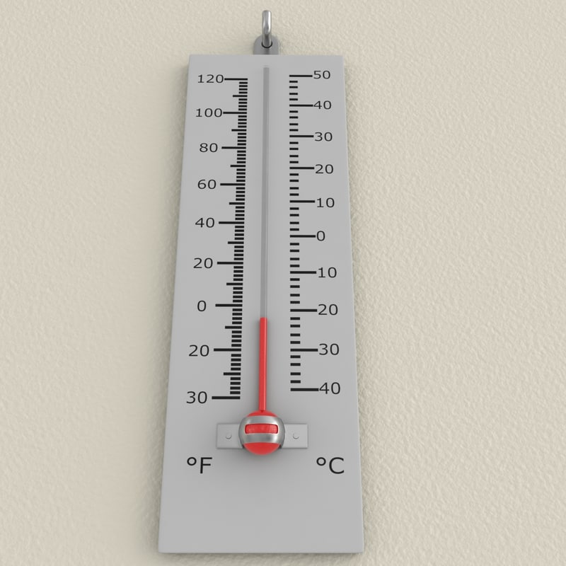 thermometer 3d model