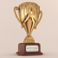 3d golden trophy