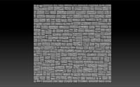 Stone brick 3d panel