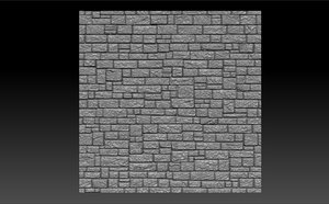 stone brick 3d model