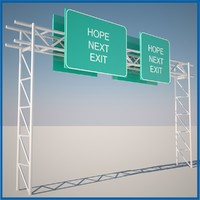 3dsmax highway sign