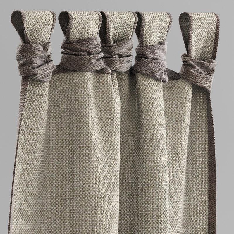3d model curtain ethnic