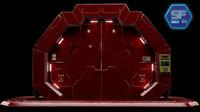 3d sci fi gate