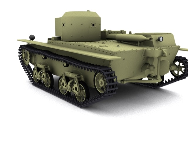 3d model tank t 38