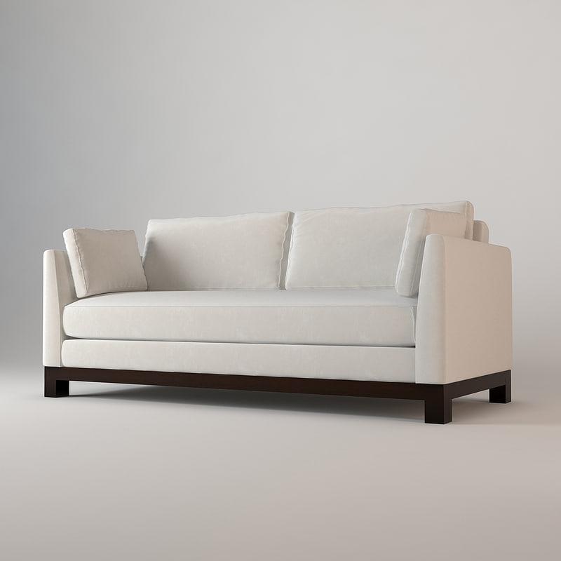 3d sofa avalon white barbara model