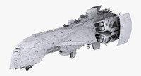 3d model of proteus cruiser