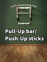 obj pull-up bar push-up sticks