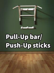 obj pull-up bar push-up sticks