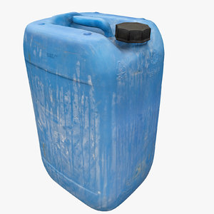 3d plastic dirty jerrycan polys