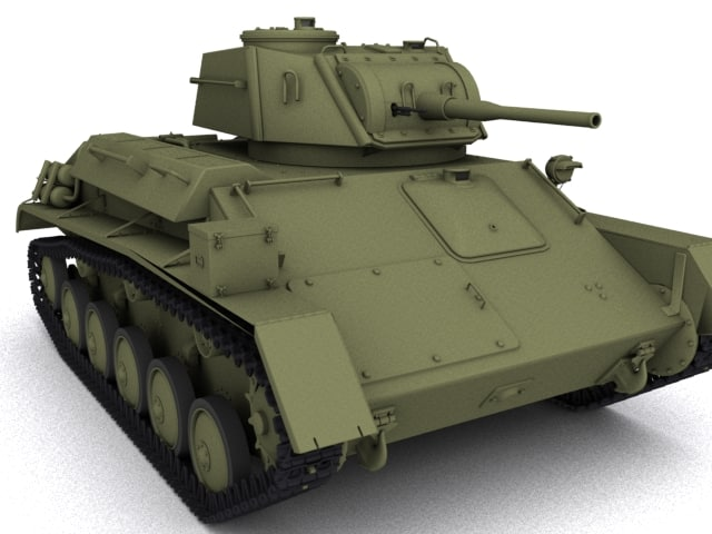 t 80 tank 3d model