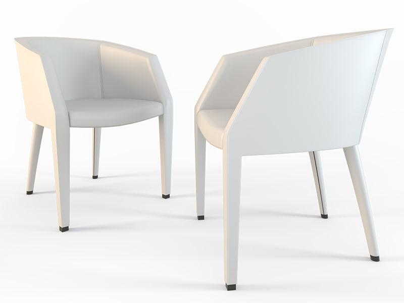 chair giorgetti eos 3d model