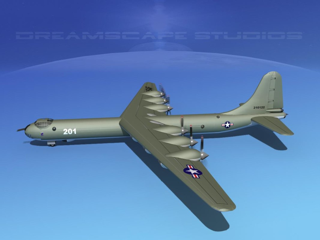 b-36a convair b-36 peacemaker 3d model