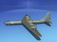 b-36a convair b-36 peacemaker 3d model