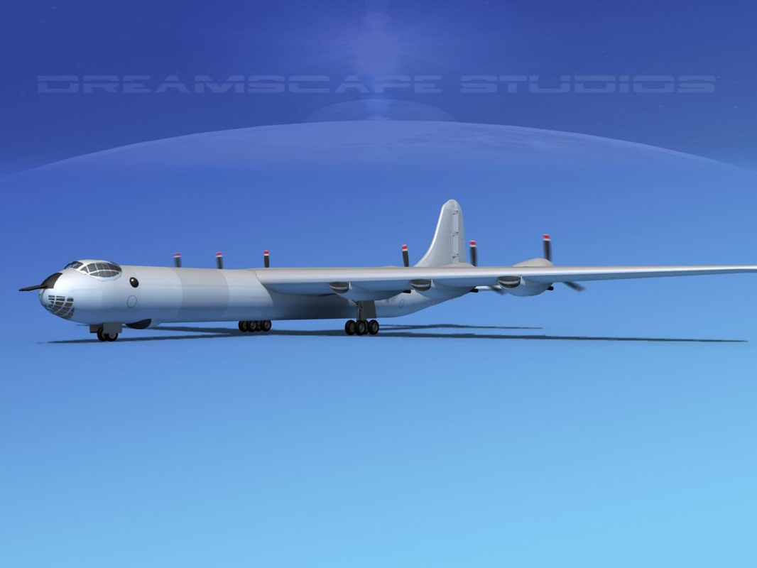 3d model b-36b convair b-36 peacemaker