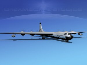 yb-60 convair b-36 peacemaker 3d model