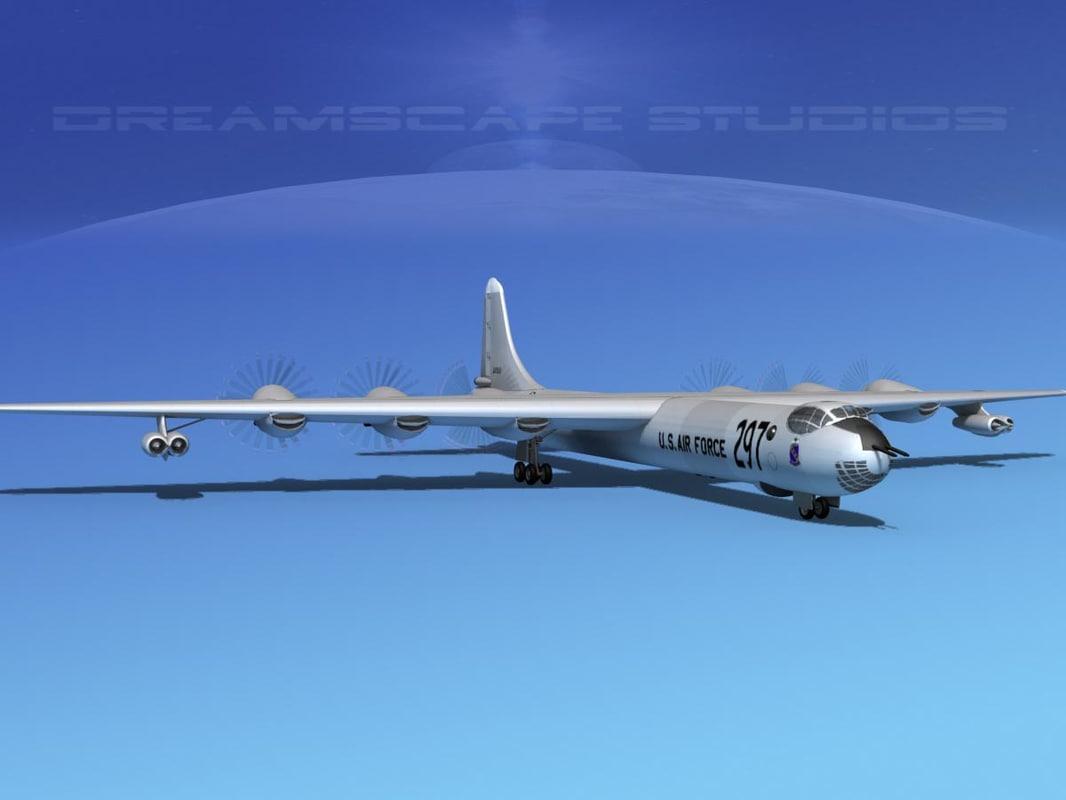 b-36a b-36d convair b-36 3d model