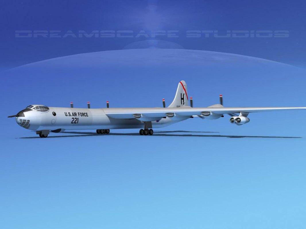 b-36b b-36d convair b-36 3d max