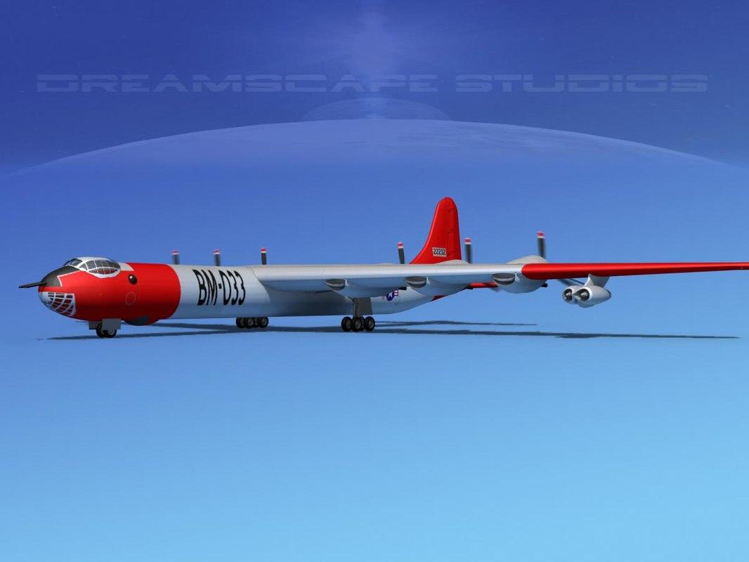 3d model b-36a convair b-36 peacemaker