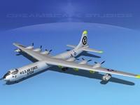 b-36b b-36d convair b-36 3d model