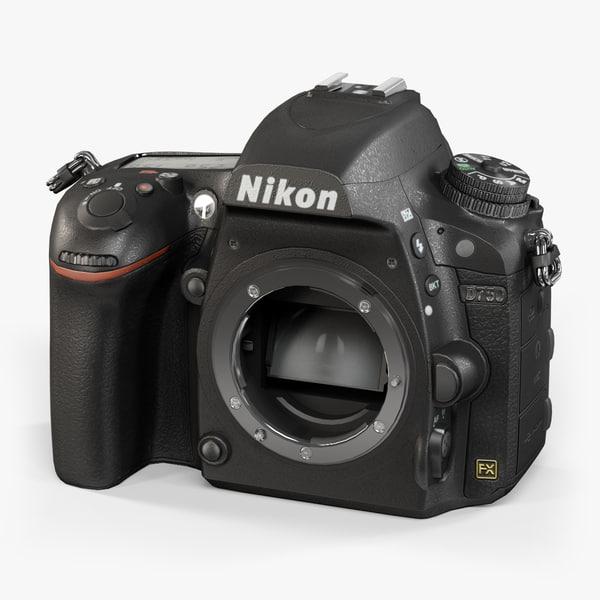 3d nikon d750 body black model