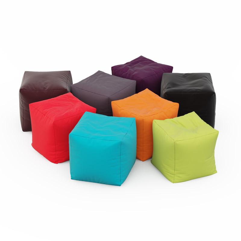 max pouf coussin bag cube