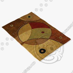 3d model chandra rugs ant-116